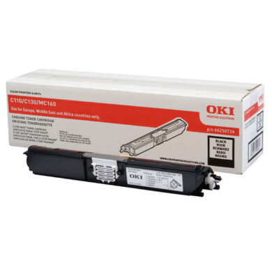 OKI 44250724 (toner-K-HC-C110/130/MC160) - originální - Černá HC na 2500 stran(011-02930)