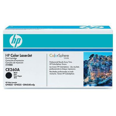 HP CE260A (647A) - originální - Černá na 8500 stran(011-03730)