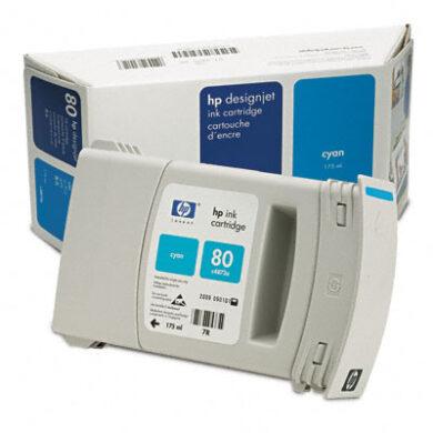 HP C4872A č.80 Cyan pro DJ 105xCM 175ml - originální(031-02101)