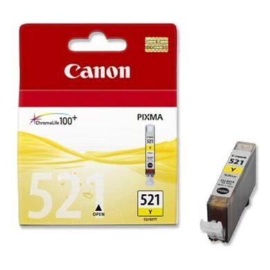 CANON CLI-521 YE pro IP3600/4600, 9ml yellow ink.(031-03154)