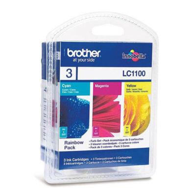 Brother LC1100CMY - originální - Sada barev (C-M-Y)(031-03276)
