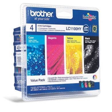 BROTHER LC1100HBCMY pack pro DCP6690 high.(031-03285)