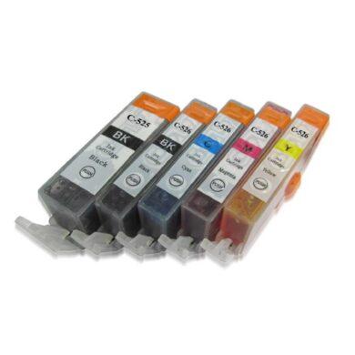 Canon CLI-526 C/M/Y/Bk - kompatibilní - sada barev + černá 525Bk(031-03556)