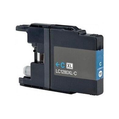 Brother LC1280XLC - kompatibilní - Cyan velkoobjemová na 1200 stran(031-03931)