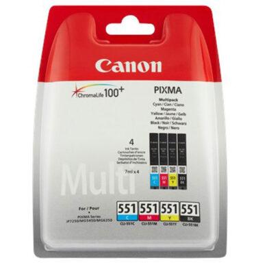 Canon CLI-551 C/M/Y/Bk - originální - Černá + sada barev(031-03946)