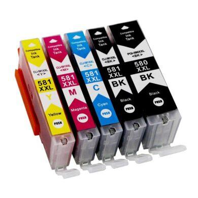 Canon CLI-581 C/M/Y/Bk XXL - kompatibilní - sada barev + černá PGI-580 XXL      (031-04745)