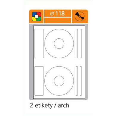 SK LABEL 0 118mm na CD  (1.list) Etiketa(065-00210)