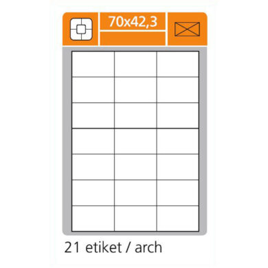 SK LABEL 70x42,3 A4 Etiketa (1.list)(065-00250)