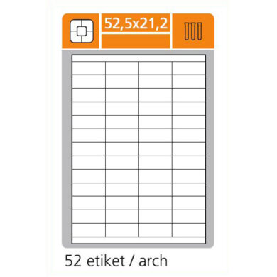 SK LABEL 52.5x21.2   (1 list) Etikety(065-01300)