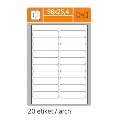 SK LABEL 98x25.4     (1 list) Etikety(065-01580)