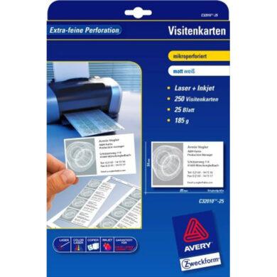 32010-10ks Vizitkové karty 185gr.perfor.(066-01050)