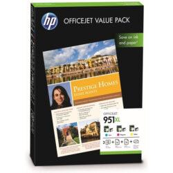 HP CR712A pack CMY no.951XL + ink. papíry A4/75 - originální