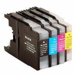 Brother LC1240BCMY - kompatibilní - Černá + sada barev