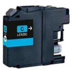 Brother LC123C - kompatibilní - Cyan velkoobjemová na 600 stran