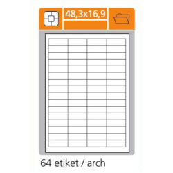 SK LABEL 48.3x16.9 (1 list) Etikety