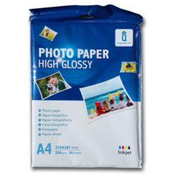Fotopapír A4 Aigostar pro ink. tiskárny - bal. 20 listů - lesklý - 230 gr.