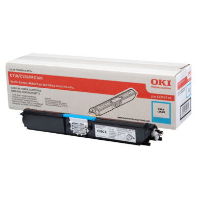 OKI 44250719 (toner-C-C110 / 130 / MC160) - originální - Cyan na 1500 stran(011-02935)