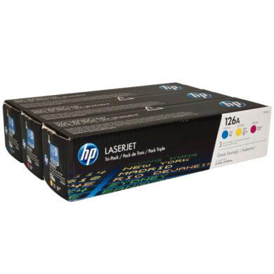 HP CF341A (126A) - originální - Sada barev (C-M-Y)(011-03336)
