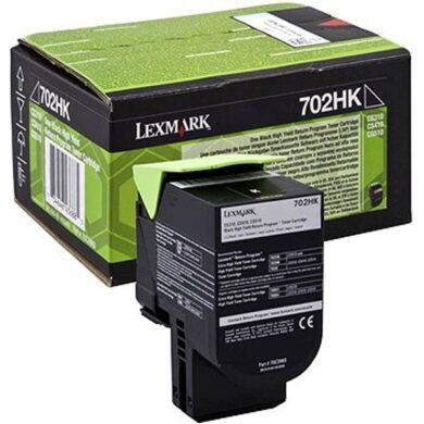 Lexmark 70C2HK0 (702HK) RETURN - originální - Černá velkoobjemová na 4000 stran(011-04080)
