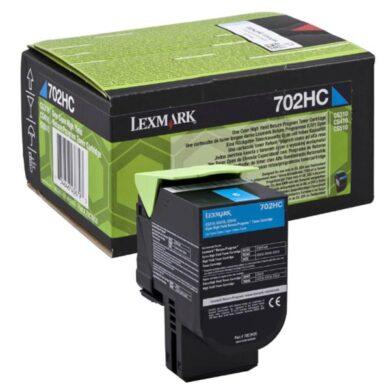 Lexmark 70C2HC0 (702HC) RETURN - originální - Cyan velkoobjemová na 3000 stran(011-04081)