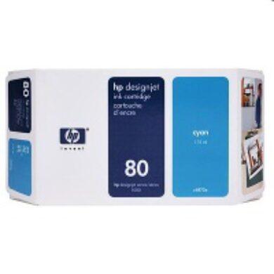 HP C4846A č.80 Cyan pro DJ 105xCM 350ml - originální(031-02104)
