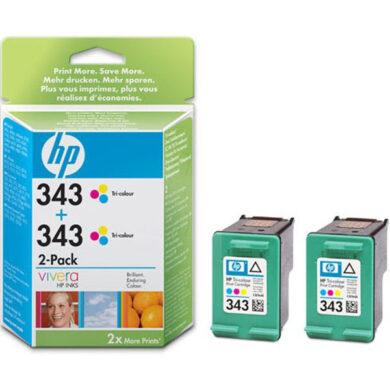 HP CB332E double No.343 (2x C8766) ink. - originální(031-02364)