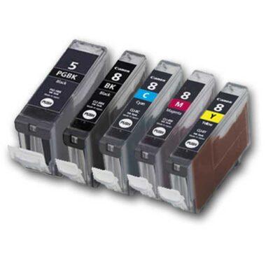 Canon PGI-5Bk/CLI-8 BCMY - kompatibilní - Černá + sada barev(031-03095)