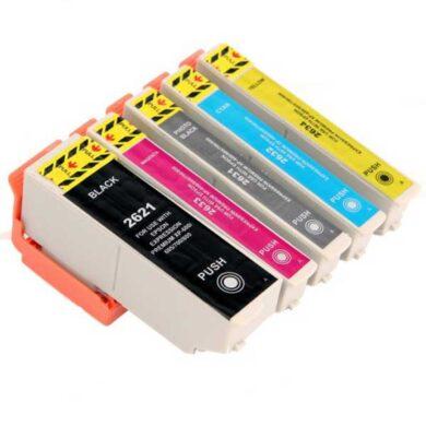 Epson T2636 (26XL) - kompatibilní - sada barev  Bk/C/M/Y + 1x 2621BK(031-04085)