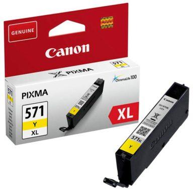Canon CLI-571Y XL - originální - Yellow velkoobjemová na 680 stran(031-04354)