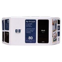 HP C4871A č.80 Black pro DJ 105xCM 350ml - originální